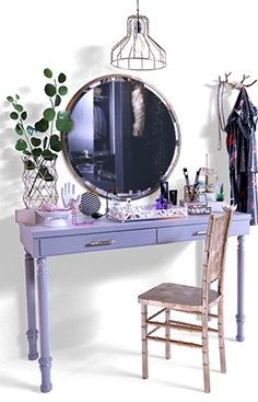 Dressing table with decorative filling