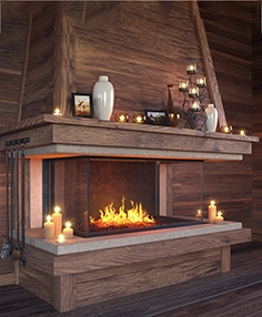 Fireplace set 3