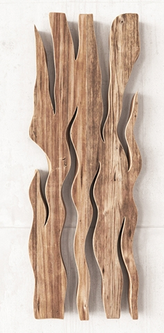 Wooden slab panels