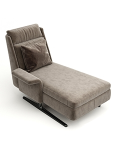 Deck chair (chair) Spencer Chaise Longue by Minotti