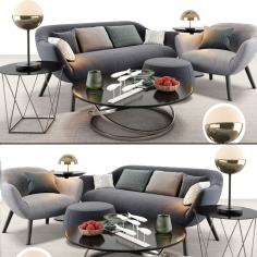 Poliform Mad sofa and armchair set