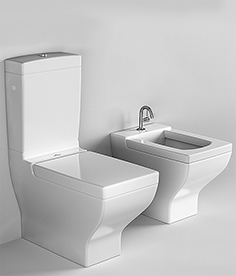 Squat toilet and bidet Villeroy & Boch La Belle