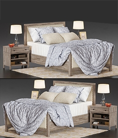 Bed Potterybarn Toulouse wood