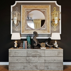 Archpole X chest of drawers with decor