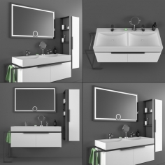 DRN bathroom cabinet and washbasin set