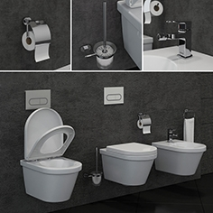 Ravak  Chrome toilet and bidet