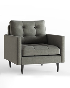Crate and Barrel Petrie armchair