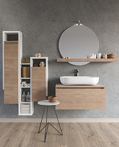 Furniture washbasin Soul - composition 01 + bathroom