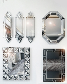 Mirrors in the Art Deco style