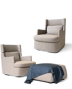 CTS armchair and poof