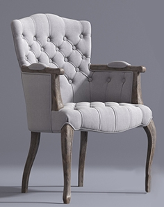 French Victorian style chair
