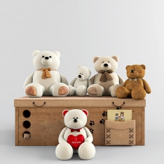 Play set with bears