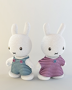 Rabbits soft toys