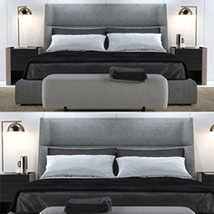 Bed Poliform Chloe Letto