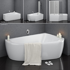 Set of asymmetric baths Ravak set 14