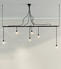 Chandelier style Loft with six lamps