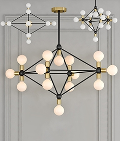 Chandelier Modo  14 milk bulb