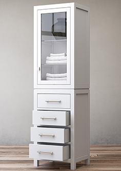 Hutton glass door bath cabinet
