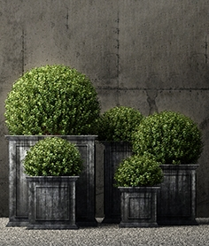 Restoration Hardware estate zinc framed panel planters