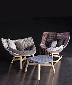 Dedon  Mbrace armchair and table