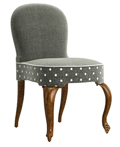 Jonathan Charles gunby gray fruitwood dining side chair