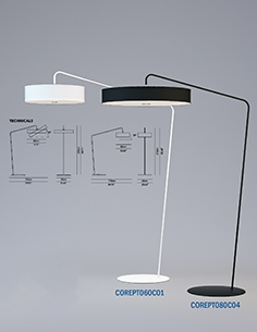 Modoluce R and D - Corner floor lamp