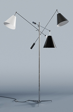 Triennale floor Lamp by Angelo Lelli for Arredoluce