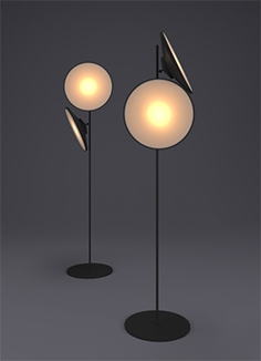 Two moon lamp