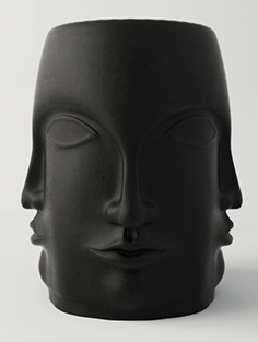 Black Carved Faces Garden chair