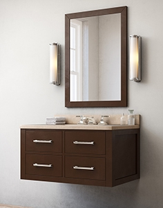 Hutton single floating vanity Espresso