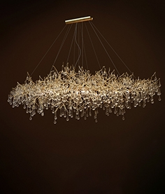 Chandelier Serip Bijout oval x-large