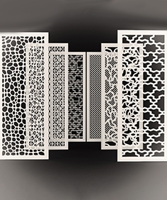 Set of decorative panels