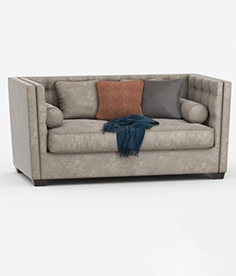 Dome deco sofa with pillows