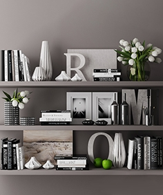 Decorative set with books 03