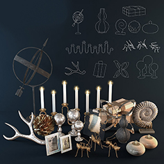 Arteriors decorative set 2