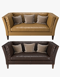 Crate and  Barrel - Brooks Leather Settee