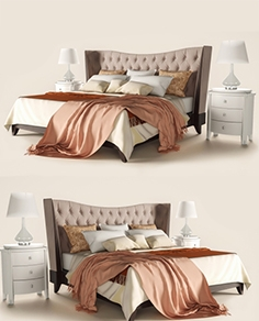 Bed with bedside tables Fratelli Barri Mestre
