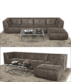 Divani Casa sectional sofa and Ottoman