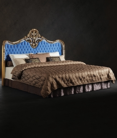 Bed with Oak Lucretia Headboard