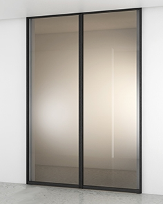 Minimal doors sliding glass walls