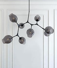 Chandelier Lindsey Adelman branching  bubble 8 black