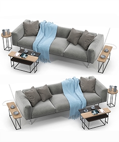 Cassina 206 cube sofa set