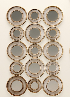 Vobbia metal circles mirror. Uttermost