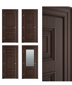 Massiv style Interior chocolate door 02