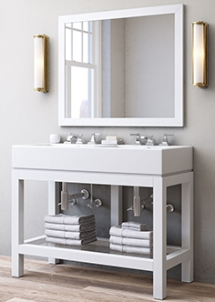 Hutton double console washstand