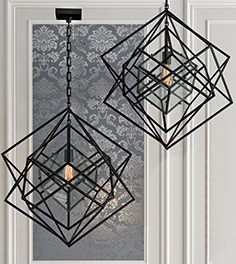 Chandelier Cubist small black