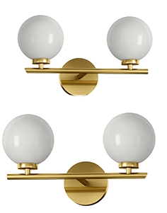 Sconce wall lamp bubble double