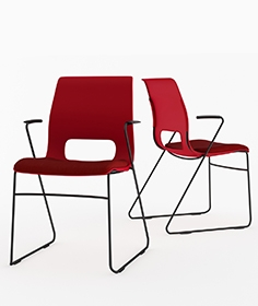 Hon high-density stacking chair HMS1