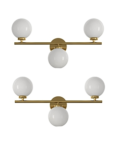 Sconce wall lamp bubble Triple