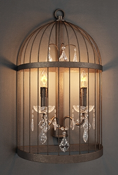 Gramercy Home - Birdcage crystal sconce SN 008-2-ABG
